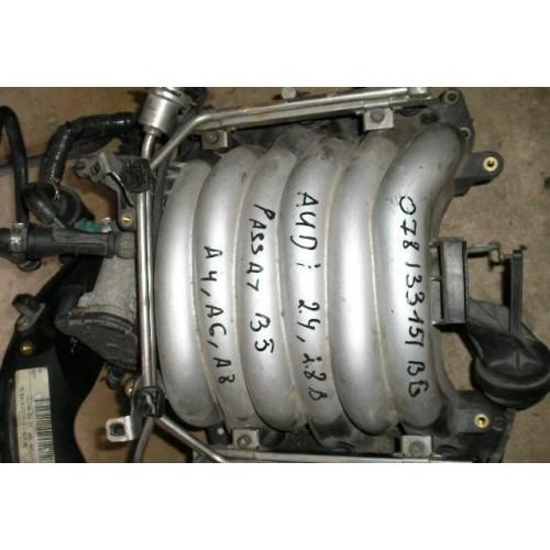 Впускной коллектор 2.4/2.8 (бензин) Audi A4 B5, A4 B6, A4 B7, A4 B8, A6 C4, A6 C5, A6 C6, A6 C7, A8 D2, A8 D3; Volkswagen Passat B5; 078133151BG