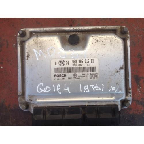 Блок управления двигателем (ЭБУ) BOSCH (038906019DD, 0281011065)