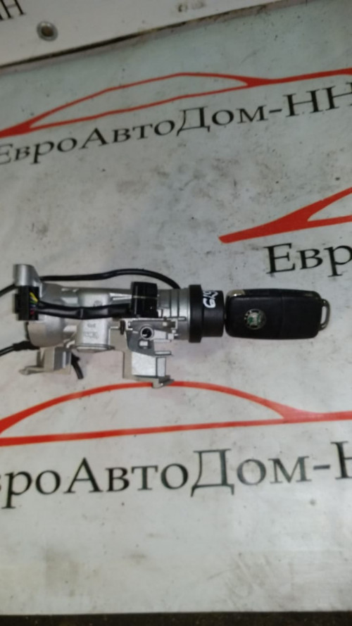 Замок зажигания с ключем Skoda Octavia II 1K0905865 , 1K0905851B
