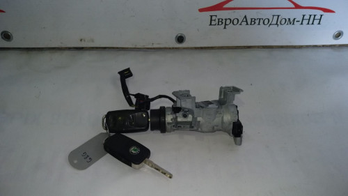 Замок зажигания с ключом Volkswagen Caddy III, Jetta V, Tiguan; Skoda Octavia II; 1K0905851B , 1K0905865