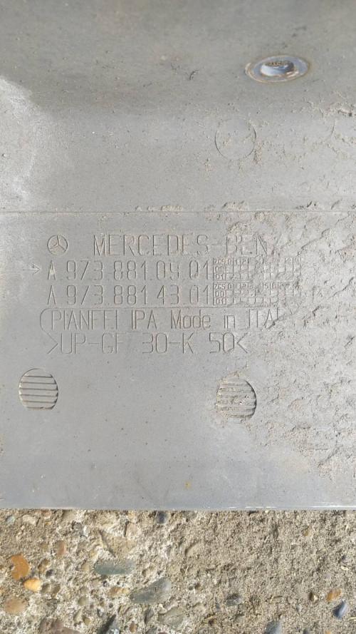 Накладка на крыло левая Mercedes Atego А9738810901