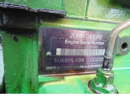 Двигатель (ДВС) JOHN DEERE 6068HL499 DD22295 John Deere Трактор CD6068U001890